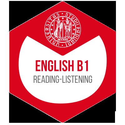 Idoneità linguistica Inglese B1 - Open Badge di UniPD su Bestr